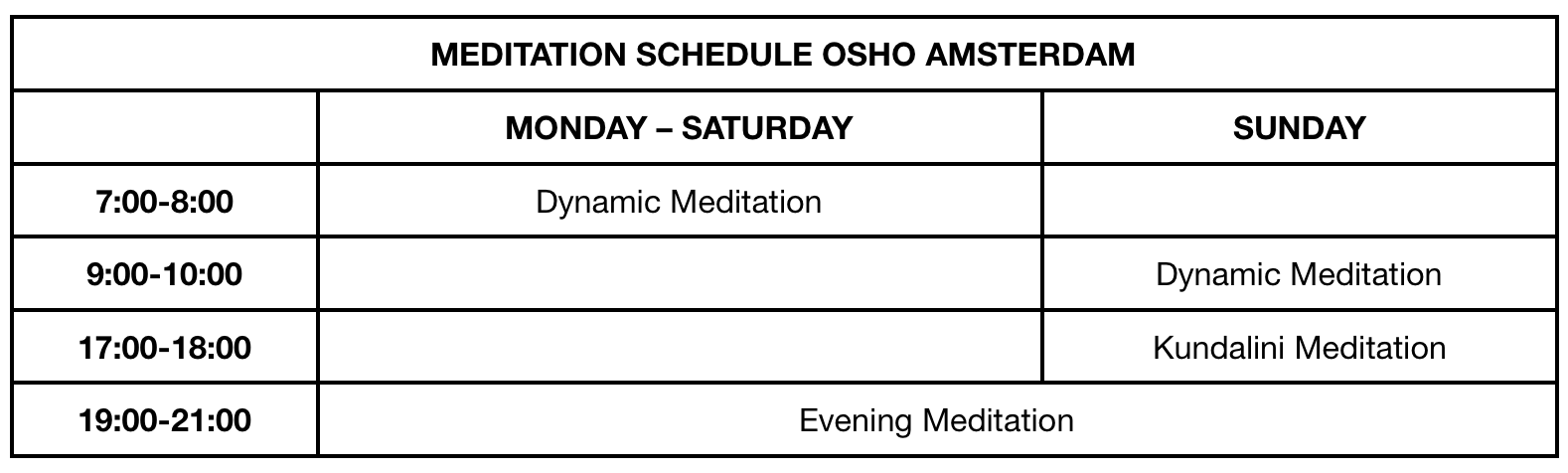 schedule mevlana meditation dummy